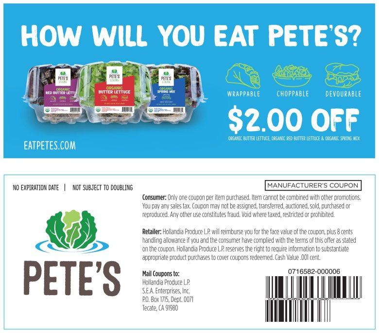 $2 Off Lettuce Coupon