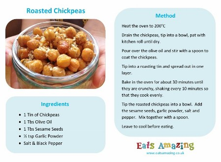 Easy Recipes For Kids Roasted Chickpeas