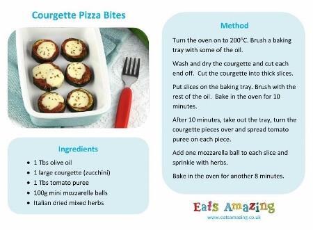 Courgette Zuccini Pizza Bites