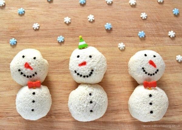 How To Make Snowman Sandwich Balls