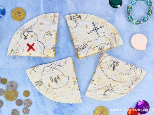 Fun Edible Pirate Map Quesadillas Recipe