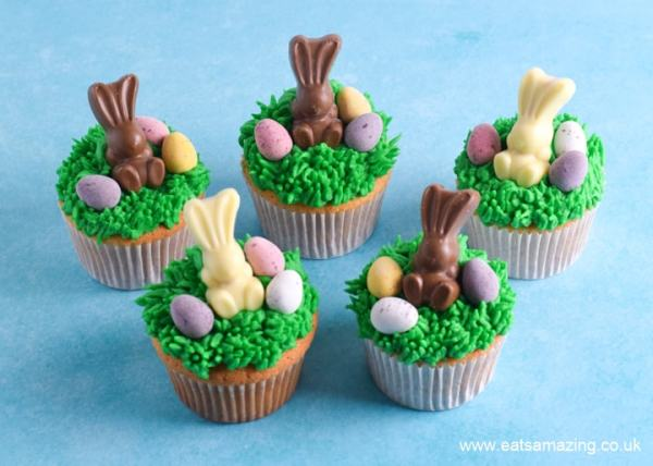 Cute and easy Easter cupcakes recipe - fun Easter food for kids