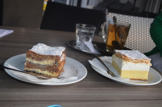 Bled Cream cake (on the right)