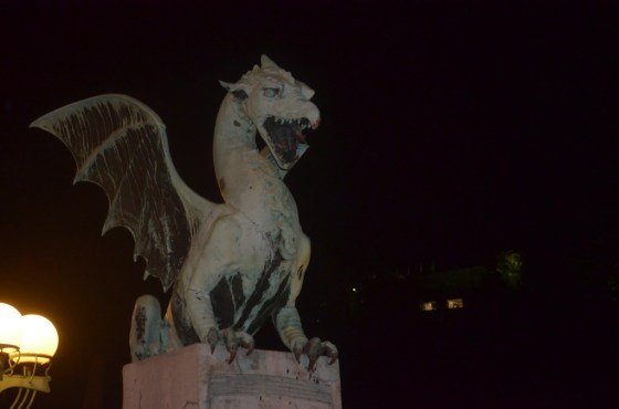 One of the dragons of the Dragon Bridge