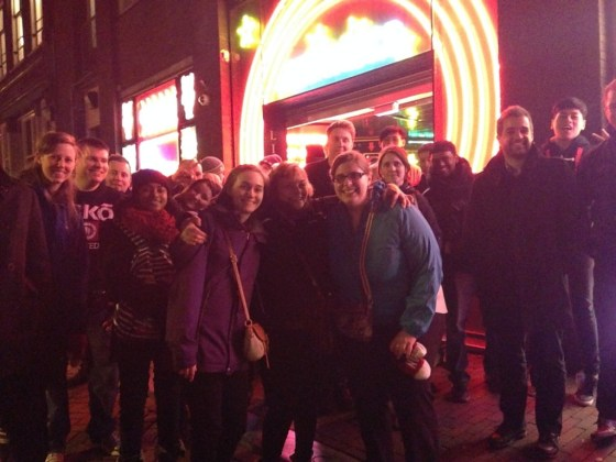 Our group for the Red Light District Tour