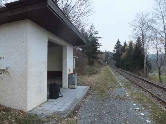 Rural train station in Germany (oops)