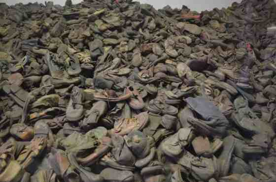 A seemingly endless pile of shoes