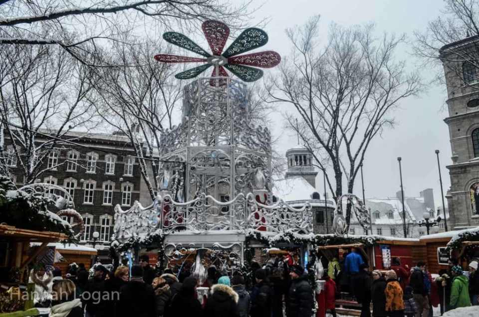 German Christmas market in Quebec City