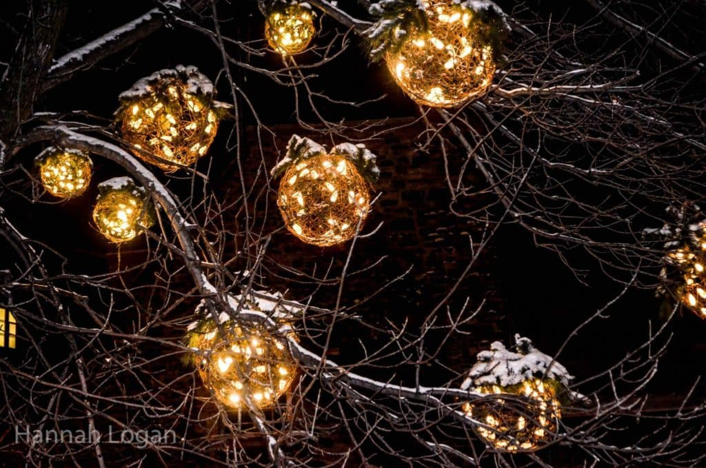 a white christmas in quebec city a photo essay eat sleep christmas balls in the branches