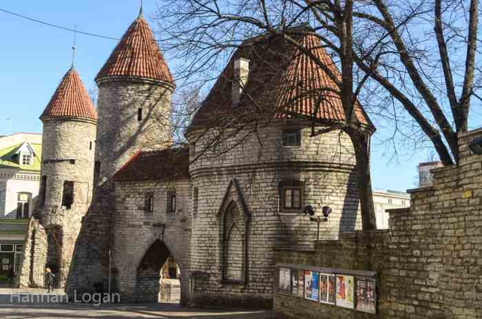 The gates to Old Town Tallinn