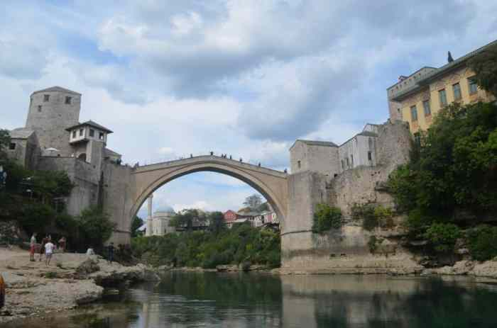 The iconic Mostar Bridge
