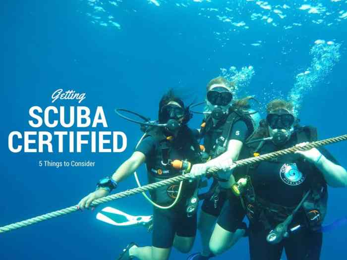 getting scuba certified