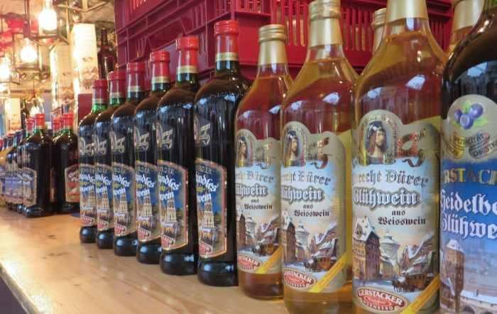 Gluhwein bottles
