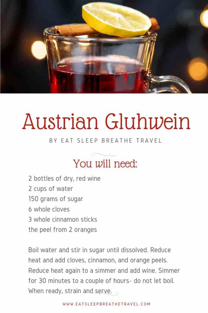 recipe card for gluhwein