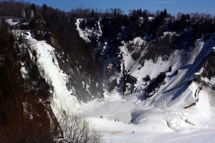 Frozen Montmorency Falls