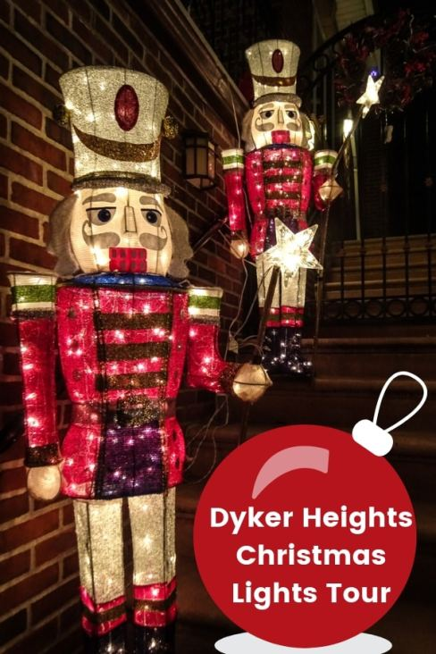 Headed to NYC for Christmas? Don't miss this Dyker Heights Christmas Lights Tour! It's an absolute must. #NYC #NewYorkCity #Christmas
