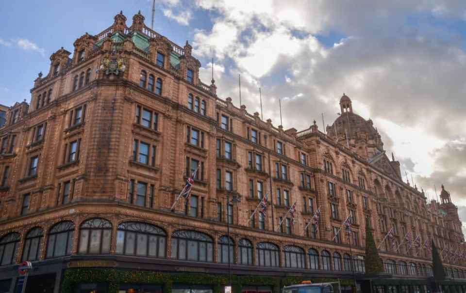 Harrods Christmas shopping in London
