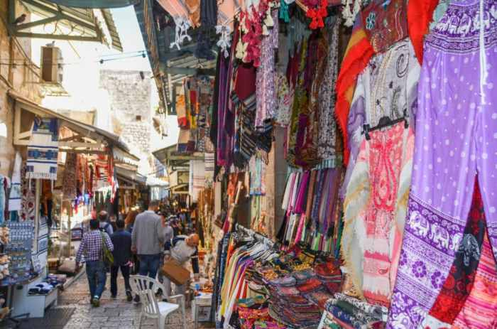 Market in Old Town Jerusalem