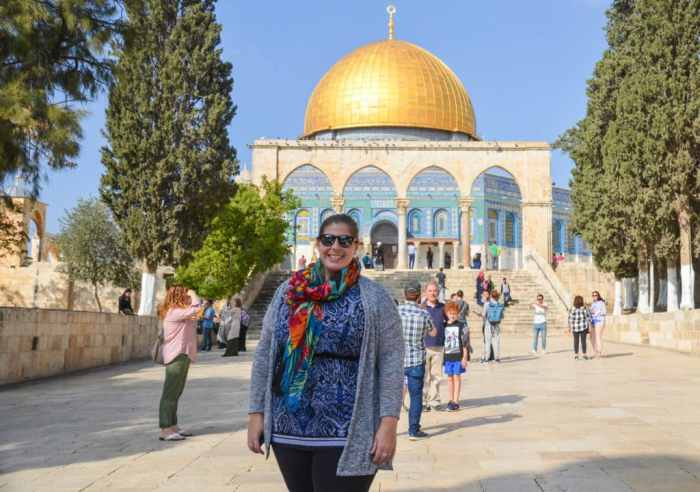 Standing in Temple Mount in Israel