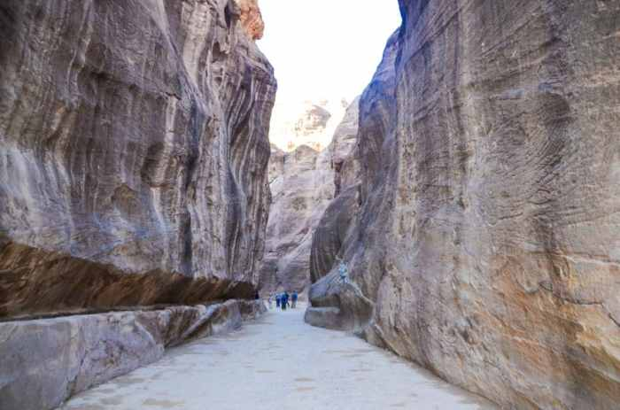Waling through the Siq in Petra
