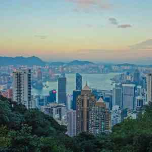 Sunset at Victoria Peak, Hong Kong