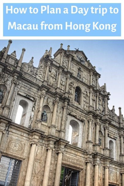 How to plan a day trip to Macau from Hong Kong