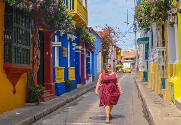 walking through Old Town Cartagena
