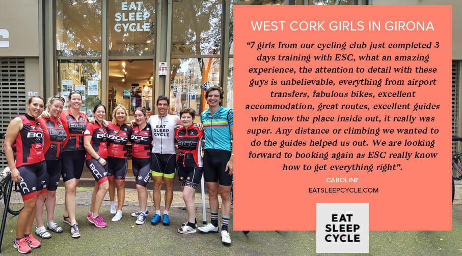 Girls Cycle Tour of Girona - Eat Sleep Cycle Tours