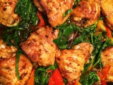 Spiced Chicken and Spinach Tray-bake