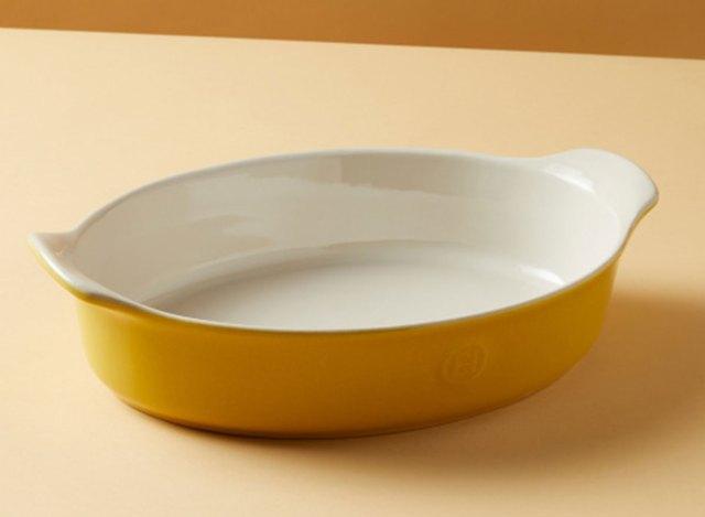 emile henry ceramic yellow baking dish
