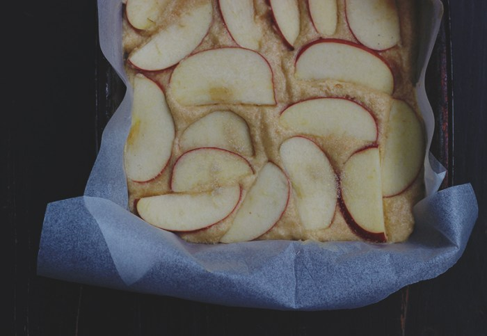 apple tea cake ready to bake