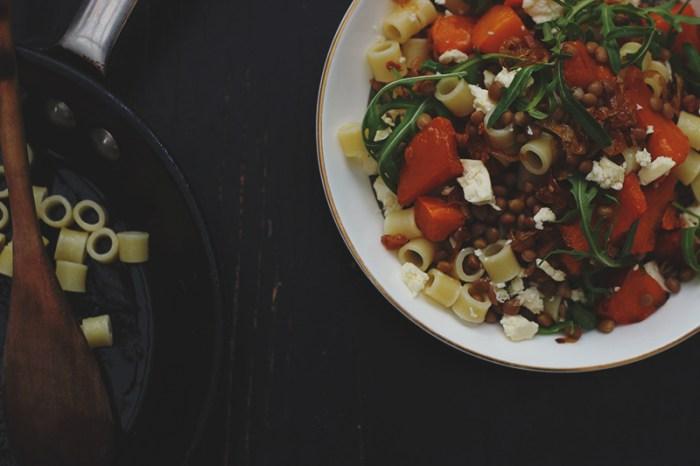 Pumpkin Lentil Salad
