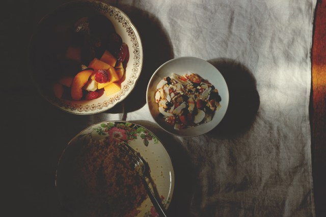 fruit and nut tabouli preparation