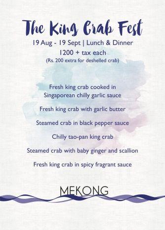 King Crab Fest at Mekong
