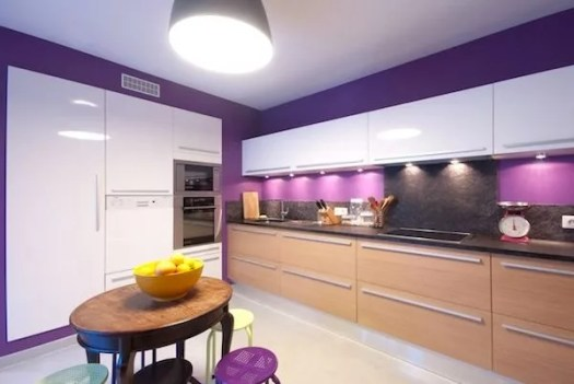 Purple Kitchen Paint Colors Photo