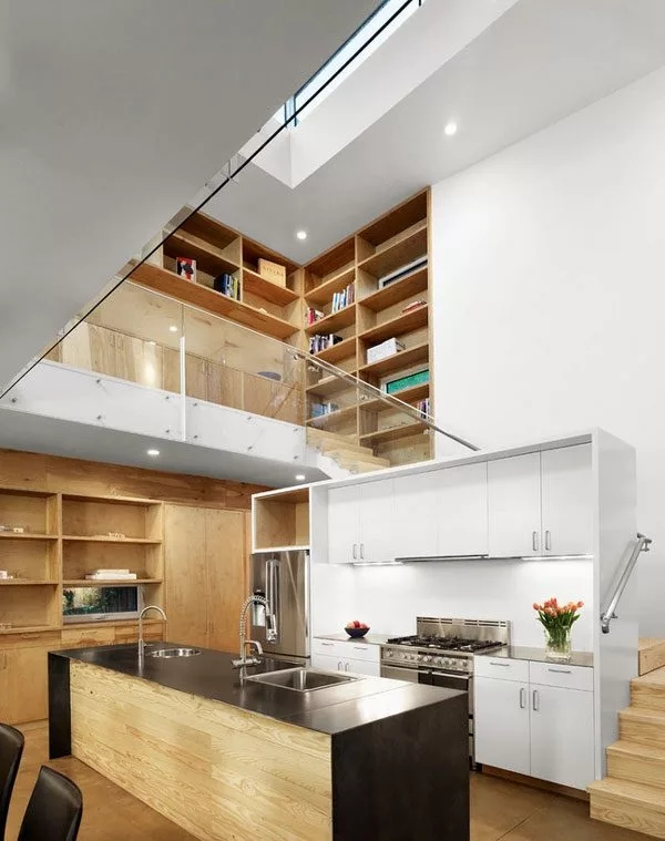 Kitchen Under Stairs Inspiration — Eatwell101 | Kitchen Under Stairs Design | Stair Case | Wet Bar | Basement Stairs | Living Room | Basement Kitchenette