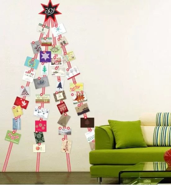 9 Fun Amp Clutter Free Ways To Display Holiday Cards