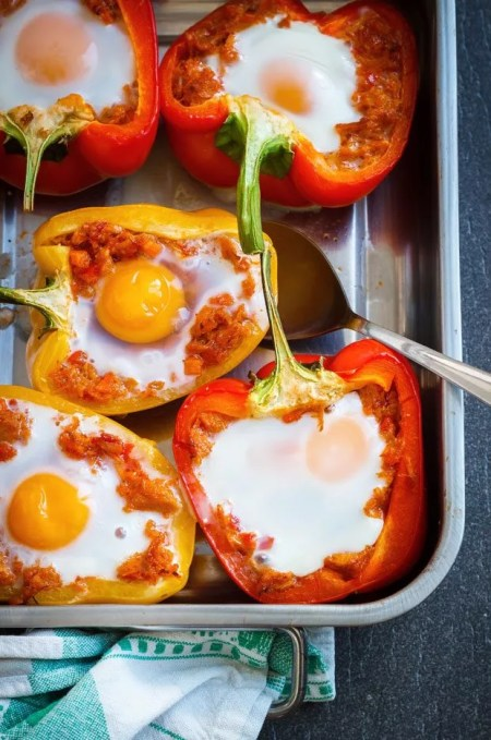 Stuffed Breakfast Bell Peppers