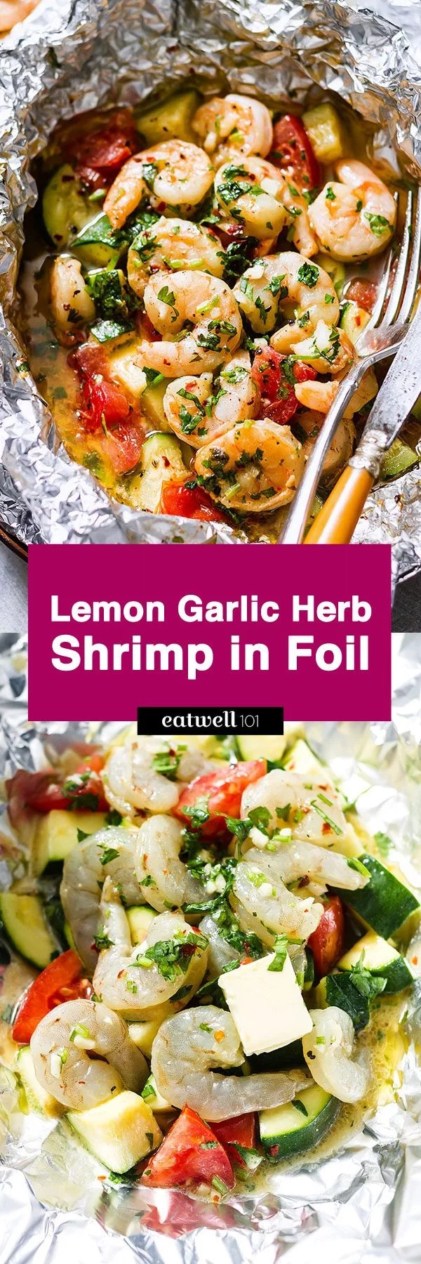 Shrimp Foil Packets With Lemon Garlic Herb Sauce Eatwell101