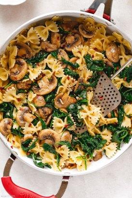Parmesan Spinach Mushroom Pasta Skillet recipe 2 - #recipe by #eatwell101
