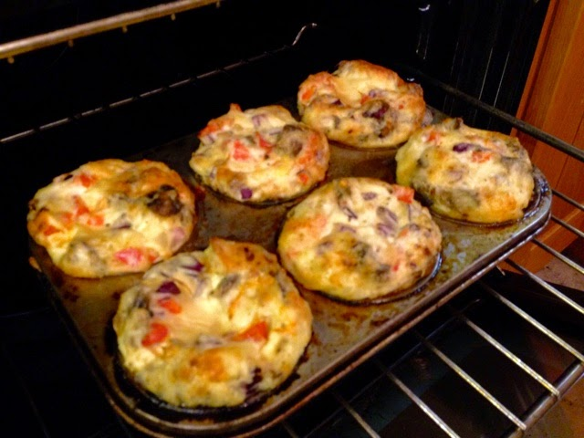 Healthy egg muffins just out of the oven