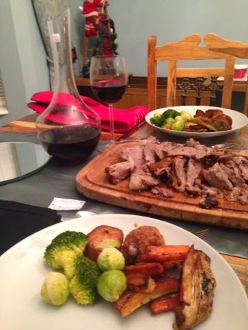 Roast lamb dinner on Boxing Day