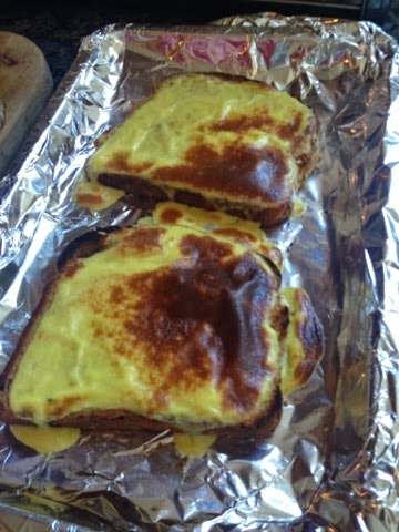 Welsh rarebit straight from the grill