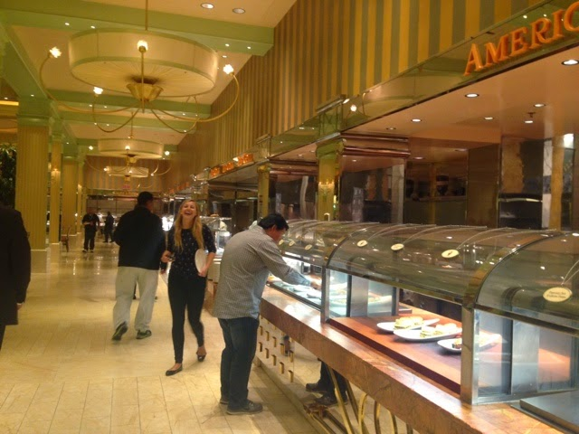The mile-long counter at the Wynn buffet