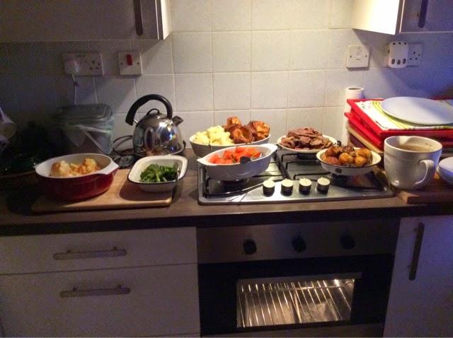 Family roast dinners