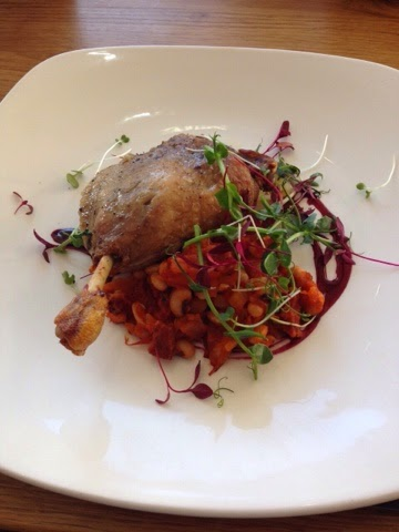 Duck leg confit at the Fisherman's Retreat, Lancashire