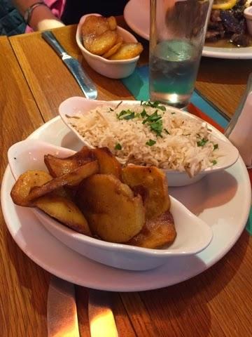 Side dishes at the Olive Tree greek restaurant, Chapel Allerton, Leeds