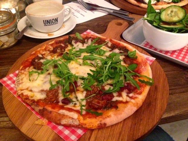 Chilli beef flatbread at Delish Deli & Kitchen, Rugby