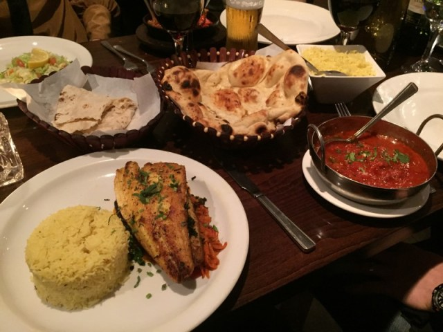 Curry at the Masala Lounge, Rugby