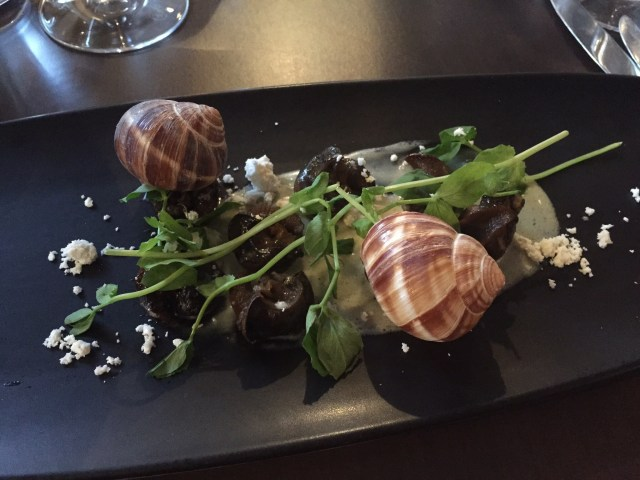 Snail starter at The Wine House, Lichfield